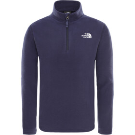 The North Face Glacier Sweat-shirt avec Fermeture éclair 1/4 Enfant, montague blue